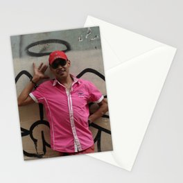Cuban Streetart - Angel man Stationery Cards