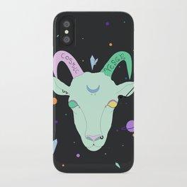 Vegan Cosmic Goat iPhone Case