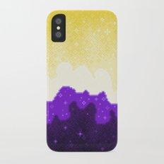 Nonbinary Pride Flag Galaxy iPhone X Slim Case
