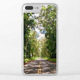 Tree Tunnel, Kauai, Hawaii Clear iPhone Case