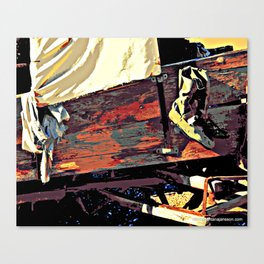 miles in these shoes Canvas Print