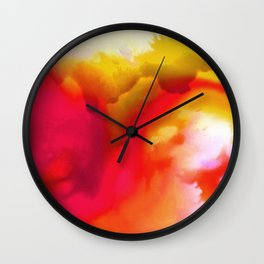 Abstract Bliss 1F by kathy Morton Stanion Wall Clock