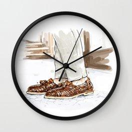 Vintage Artisan classic king loafer illustration Wall Clock