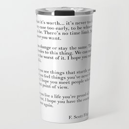 fitzgerald for what it's worth Travel Mug