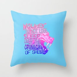 The Opinion of Sheep Throw Pillow