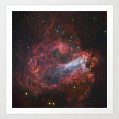 Sagittarius Star Factory Messier 17  Art Print