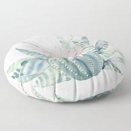 Petite Cactus Echeveria Floor Pillow