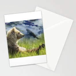 A Little Bear Dreams of Sweet Tomorrows Stationery Cards