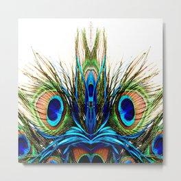 Metamorphosis Peacock Metal Print