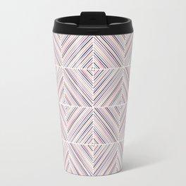 Herringbone Diamonds - Mauve Travel Mug
