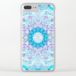 Lacy Mandala Clear iPhone Case