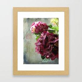 carte hydrangea Framed Art Print