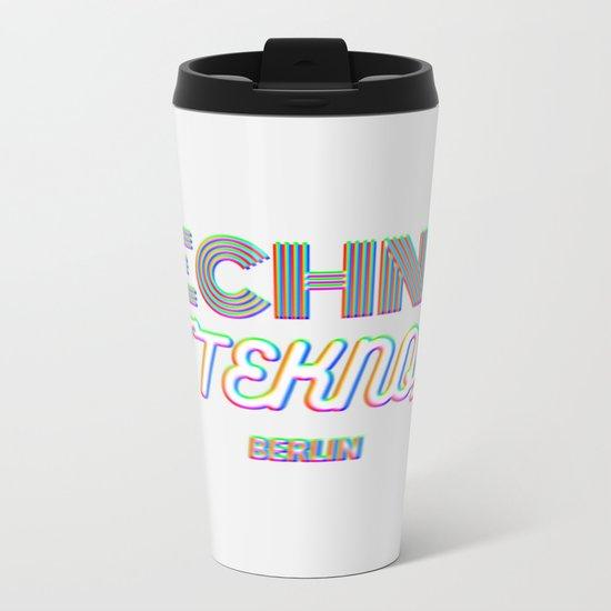 Techno Tekno Berlin (Glitch) Metal Travel Mug