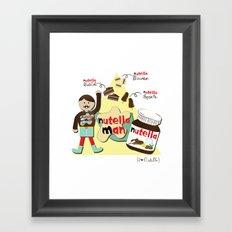 I {❤} NUTELLA Framed Art Print