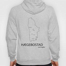 map of hægebostad Hoody