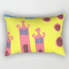 three houses saying ohhhh Rectangular Pillow