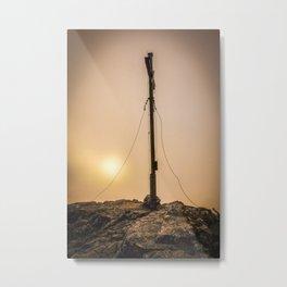 Summit cross at sunset Metal Print