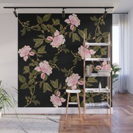 Rose Garden Noir Wall Mural
