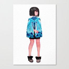 Bleu Canvas Print