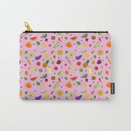 Fruit and Veggie Pattern Carry-All Pouch