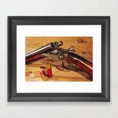 Old Double Barrel Stevens Framed Art Print