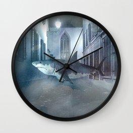 Night Shark Wall Clock