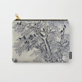 12,000pixel-500dpi - Kawanabe Kyosai - Flock Of Crows At Dawn - Digital Remastered Edition Carry-All Pouch