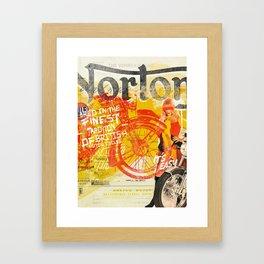 Norton British Motor Cycles Framed Art Print