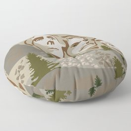 Mount Rushmore Floor Pillow