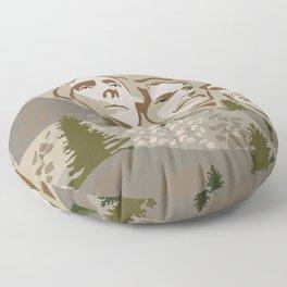 Mount Rushmore Floor Pillow