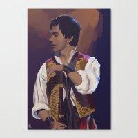 enjolras Canvas Prints featuring Enjolras by Miki Price