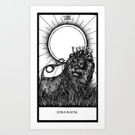 Strength Tarot Art Print