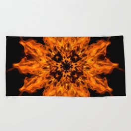 Fire Ceremony Mandala 144 Beach Towel