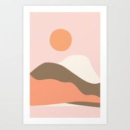 Graphic Desert Art Print