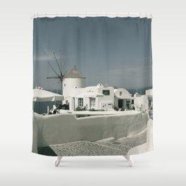 Santorini, Greece 8 Shower Curtain