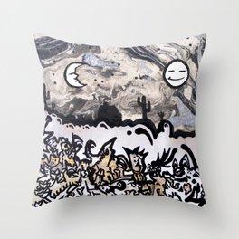Sun & Moon on Gobbledegook Throw Pillow