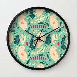 Bear Pattern 003 Wall Clock