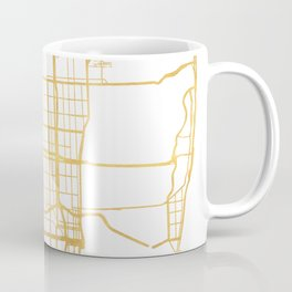 MIAMI FLORIDA CITY STREET MAP ART Coffee Mug