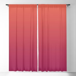 Pantone Living Coral & Vivacious Pink Gradient Ombre Blend Blackout Curtain