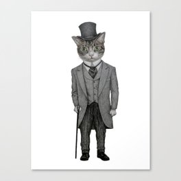 Mr.cat Canvas Print