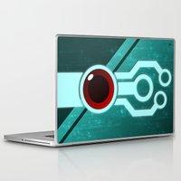 transistor Laptop & iPad Skins featuring The Paintbrush by Grimaldo