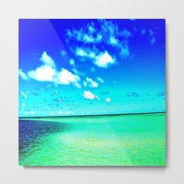 High color Summer Sandbar Sea Metal Print