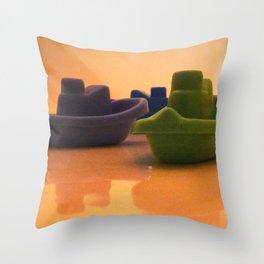 Rub A Dub DUB Throw Pillow