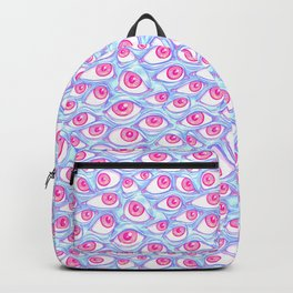 Wall of Eyes in Baby Blue Backpack
