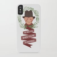 freddy krueger iPhone & iPod Cases featuring Freddy Krueger Christmas by Big Purple Glasses