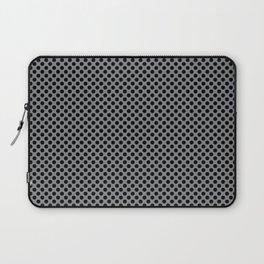 Sharkskin and Black Polka Dots Laptop Sleeve