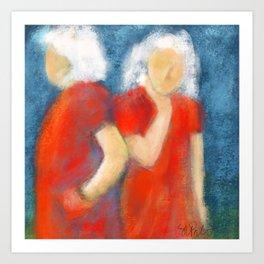 Women in Red # 27 Art Print
