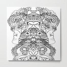 FaceArt Metal Print