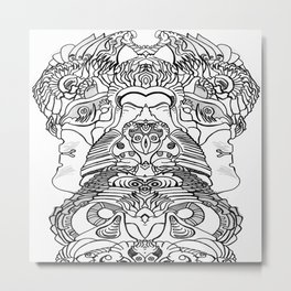 FaceArt Metal Print