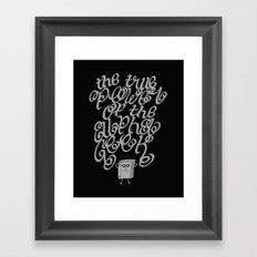 Alpha Geek Framed Art Print